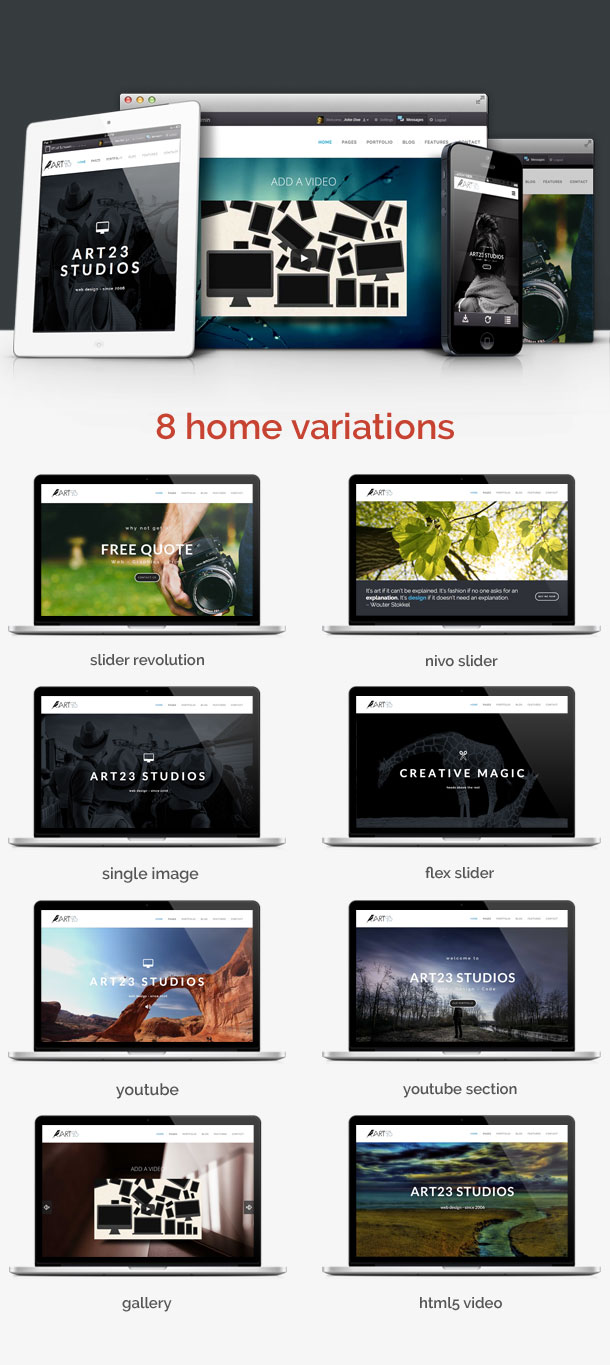 Art23 - Responsive Multipurpose WordPress Theme