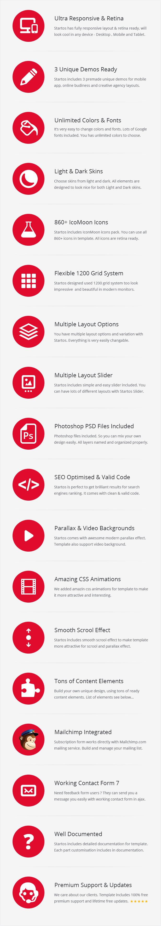 Startos - Modern App Landing Page WordPress Theme - 5