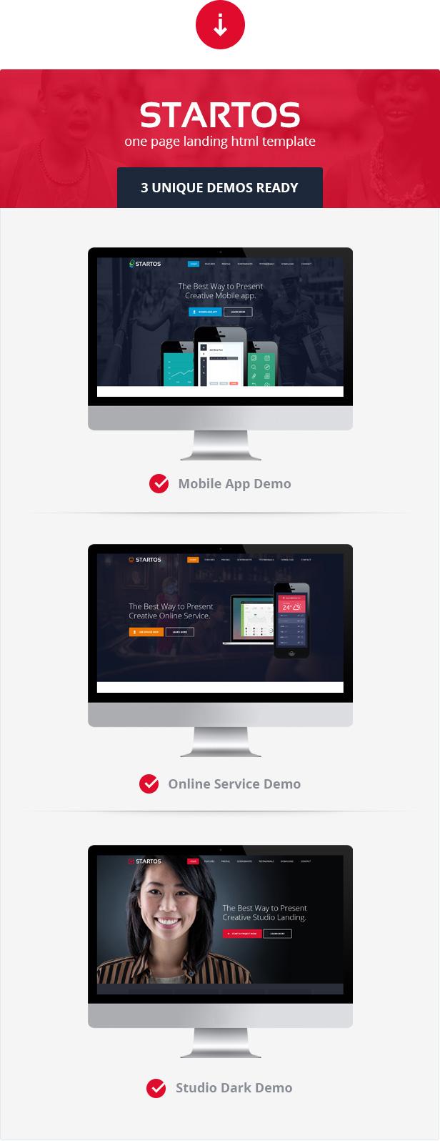 Startos - Modern App Landing Page WordPress Theme - 1